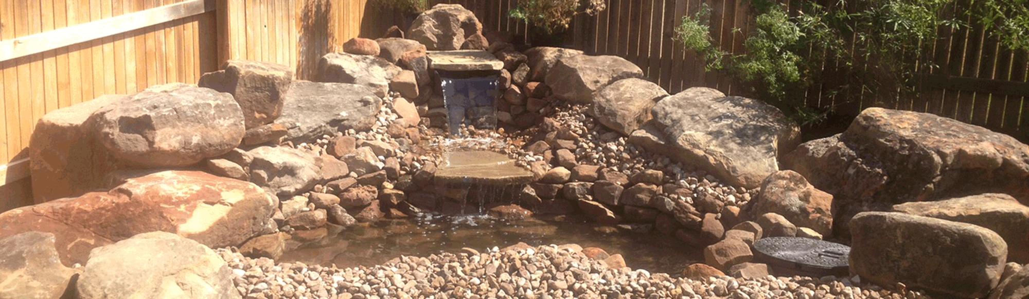 Cedar Park, TX Residential Waterfall Image