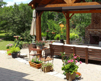 Example of Landscaping Design and Paver Installation in Bryan/College Station, TX